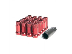 Muteki SR48 Lug Nuts Red M12x1.5 Open