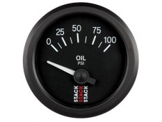 STACK 52mm Electric Oil Pressure Gauge - 0-100 psi
